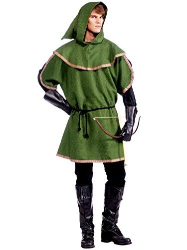 [Mygems Mens Sherwood Archer Fancy Dress Fancy Dress Costume Renn Faire Ren Fair] (Renaissance Archer Costumes)