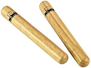 Nino Percussion NINO502 Natural Wood Claves, Small
