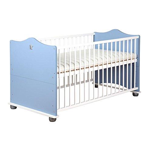 Baby Babybett Bettchen Gitterbett umbaubar blau Prinz