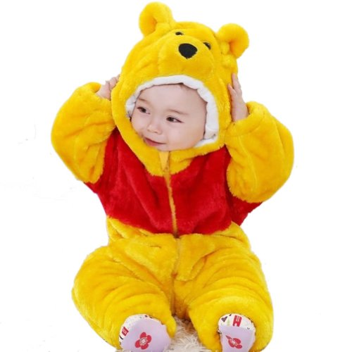 Meilaier Halloween Costume Baby Winter Newborn Romper Animal Pooh Bear Toddler baby Onesie Outfits Suit