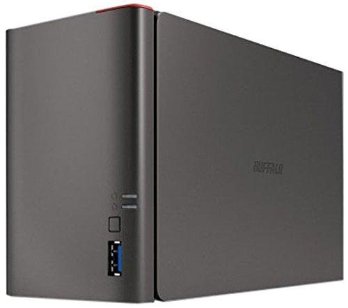 Buffalo LinkStation 421DE 2 Alloggiamenti Archiviazione Esterna Diskless, Nero