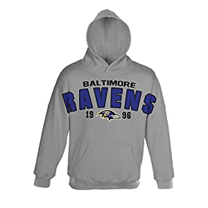 NFL Baltimore Ravens Youth Oversize Hoodie (Age 4-18) from Outerstuff/Adidas Licensed Youth Apparel