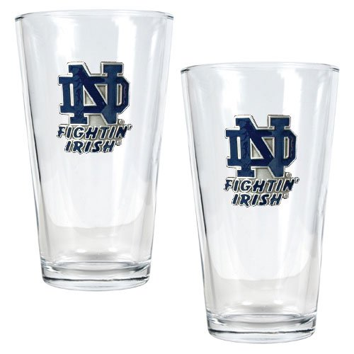 Notre Dame Fighting Irish NCAA Pint Ale Glass Set