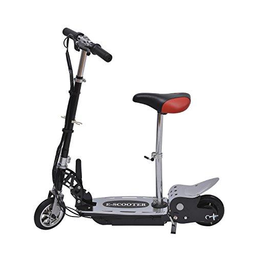 Electric 120W Kids Motorized Riding E Scooter W/ Seat - Black