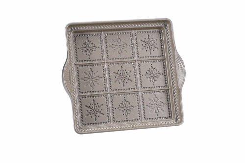 Nordic Ware Snowflake Shortbread Pan, Silver front-568457