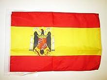 BANDERA de ESPAÑA DE FRANCO 45x30cm - BANDERINA FRANQUISTA ESPAÑOLA 30 x 45 cm cordeles - AZ FLAG
