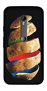 Timpax Light Weight Hard Back Case Cover Printed Design : A potato.Exclusively Design For : Motorola Moto-G-3 ( 3rd Gen )