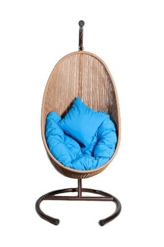 Anro Lounge-Möbel GmbH RAVENNA Hängesessel RAVENNA aus Polyrattan mit Gestell und 2 Kissen