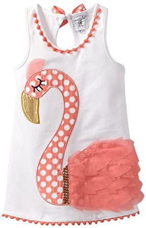 Amazon.com: Mud Pie Baby Girls' Flamingo Cotton Dress
