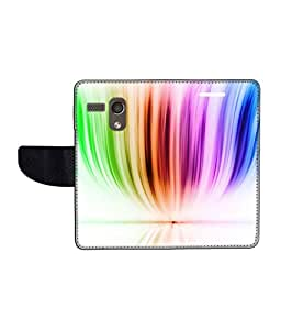 KolorEdge Printed Flip Cover For Motorola Moto G Multicolor -(45KeMLogo12375MotoG)