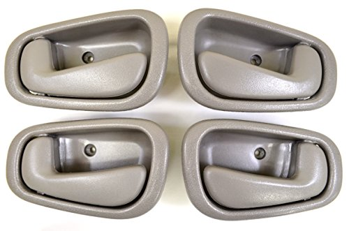PT Auto Warehouse TO-2543G-QP - Inside Interior Inner Door Handle, Gray - Manual Lock, 2 Left, 2 Right (Toyota Corolla 99 Right compare prices)