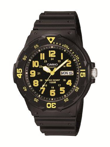 Casio MRW-200H-9BVEF - Reloj analógico de cuarzo para hombre con correa de resina, color negro