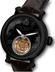 Happy Buddha Tourbillon with Black Characters on Onyx Dial - Black Case Limited Edition Watch