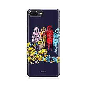 Motivatebox-Apple Iphone 7 plus cover-ASronaut ghosts Polycarbonate 3D Hard case protective back cover. Premium Quality designer Printed 3D Matte finish hard case back cover.