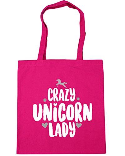 hippowarehouse-crazy-unicorn-lady-tote-shopping-gym-beach-bag-42cm-x38cm-10-litres