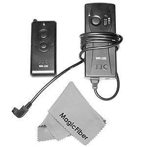 Wireless Remote Control For Sony Alpha DSLR A700, A350, A300, A200, A100 DIGITAL Cameras And Konica Minolta Cameras + MagicFiber Microfiber Lens Cleaning Cloth