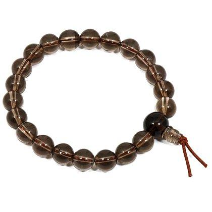 Smoky Quartz Power Bead Bracelet