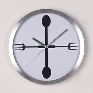 Horloge Murale D Corative Cuill Re Fourchette Pendule