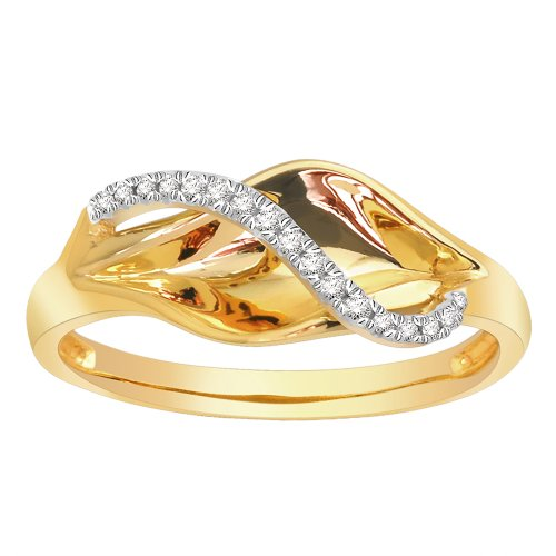 14k Yellow Gold Diamond Fashion Ring (0.08 cttw, H-I Color, I2 Clarity), Size 8