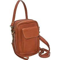 David King Leather Male Bag with Organizer in Tan