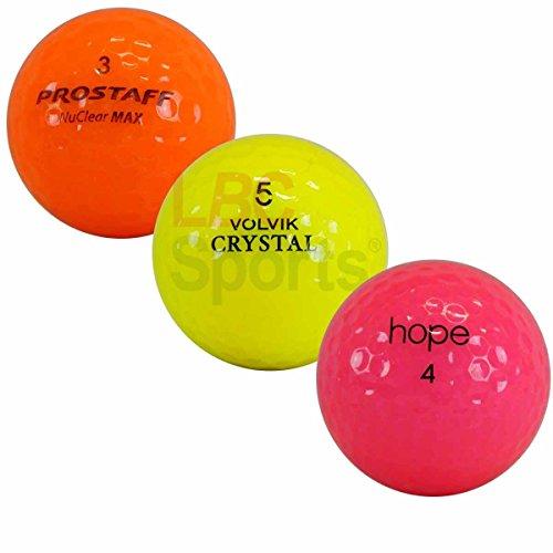 LBC-Sports 25 bunte CRYSTAL-MIX Golfbälle im Netzbeutel *AAAA Lakeballs* Optic Bälle
