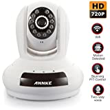 ANNKE Sparkle 1 H.264 HD 1280 x 720P Baby/Pets Monitor Wireless/Wired Pan/Tilt IP Camera with IR-Cut Filter for Home Security Video Recording (Plug & Play, QR Code Scan, iPhone & Android Mobile View,Two-ways Audio Talk, Motion Detection)