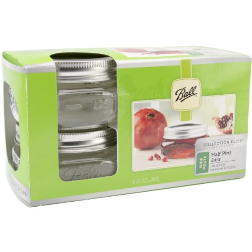 Ball 61162 Wide Mouth Canning Jar, 4-Pack (Half Pint Wide Mouth Jars compare prices)