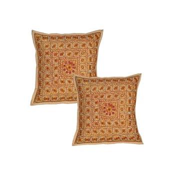pas cher housse de coussin indiennes ameublement fil d. Black Bedroom Furniture Sets. Home Design Ideas