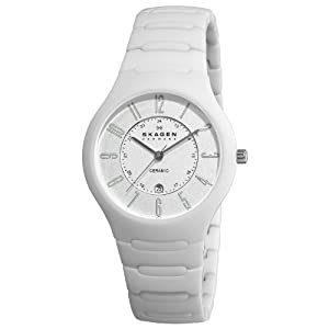 Skagen Women's 817LWXC Ceramic White Ceramic Watch