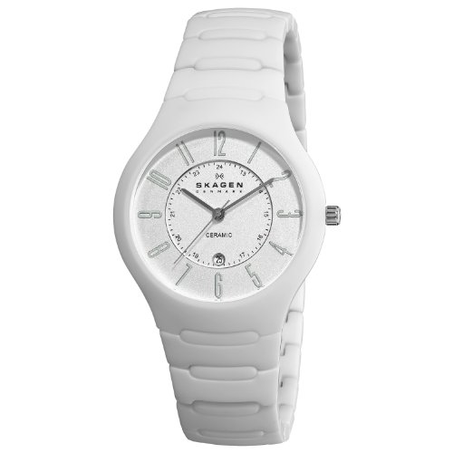 Skagen Designs Men's Ceramic Analogue Watch 817LWXC with White Dial