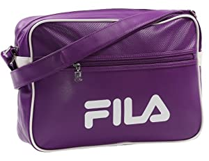 Fila Retro Unisex Shoulder Messenger Bag - Purple