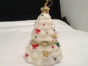 Mr. Christmas Porcelain Music Box Ornament - Christmas Tree