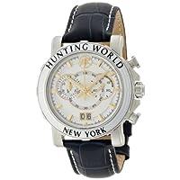 [ハンティングワールド]HuntingWorld 腕時計 イリス ネイビー革 ホワイト文字盤 クォーツ メンズ HW913NV メンズ 【正規輸入品】