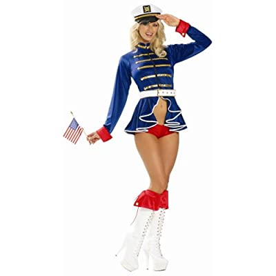 Sexy Costumes: Hot Babes in 4 Piece Pin-Up Sailor Girl Costume