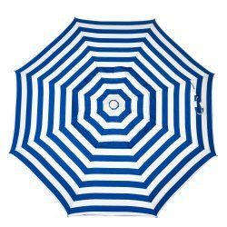 6ft Deluxe Cabana Striped Beach Umbrella with Tilt & Vent