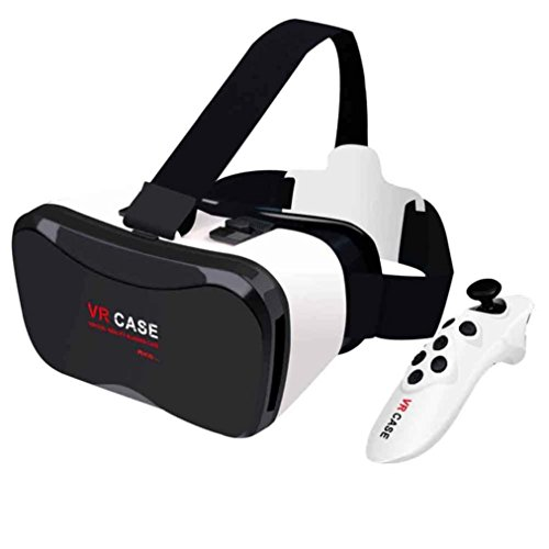 Leoy88 VR Case Plus VR Box Glasses Immersive Virtual Reality Google for 4-6.3 inch SmartPhone + Bluetooth VR-BOX Remote Control