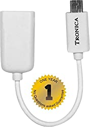 TRONICA USB OTG CABLE WITH ONE YEAR FREE REPLACEMENT WARRANTY