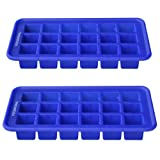 Ice Cube Tray -Easy Release Perfect Cube -Flexible Silicone for Unique Popsicles -Reusable No Spill Tray for Freezing Babies Food -Novelty Big Shape Molds Fun Ice for Scotch Whiskey -Non Toxic BPA Free -Stay Cool Not Hot -Lifetime Guarantee