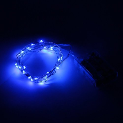 String Lights Blue : SINOLLC 10ft 30 LEDs Blue Starry Starry Light String Light 3xAA Battery Powered Flexible Indoor ...