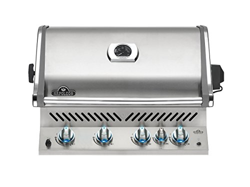 Napoleon BIPRO500RBNSS Built-In Prestige PRO Natural Gas Grill, Stainless Steel