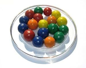 15 Billes en terre tradition de couleurs mélangées 16 mm - Fabrication artisanale
