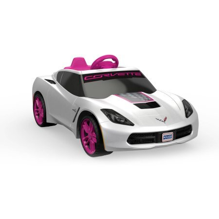 Fisher-Price Power Wheels Girls' Corvette 6V Battery-Powered Ride-On (Red Ryder Wagon Canopy compare prices)