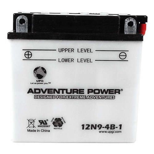 Upg 12N9-4B-1 - Oem 12N9-4B-1 - Motorcycle Battery - Conventional Wet Pack - 12 Volt - 9 Ah Capacity - F Terminal back-68735