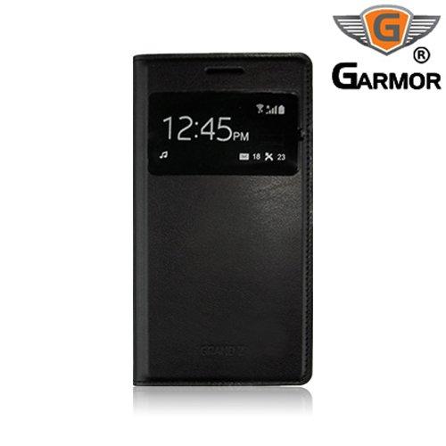 Garmor Samsung Galaxy Grand 2 G7106 Flip Cover with Sensor- Black