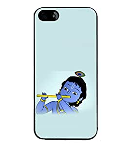 printtech Lord God Krishna Small Cartoon Back Case Cover for Apple iPhone 5C