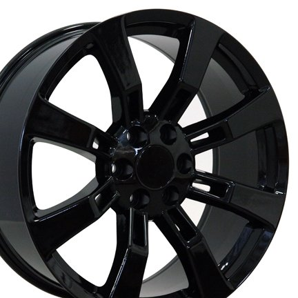 22x9 Wheel Fits Cadillac - Escalade Style Black Rim (22 Inch Rims 6 Lug compare prices)