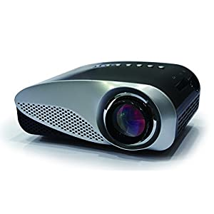 FastFox Mini Projector 480*320 120 Lumen Private Cinema support HDMI VGA AV USB TV port enjoy Video Movie Game Black Color
