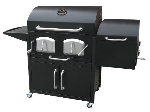 Landmann 591320 Smoky Mountain Bravo Premium Charcoal Grill with Offset Smoker Box