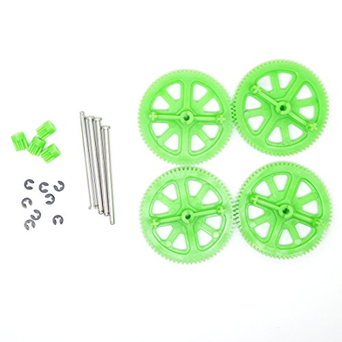 Parrot AR Drone 2.0 & Power Edition Replacement Motor Gears and Shaft / Repair Parts Kit / Upgrade Gears (Green)