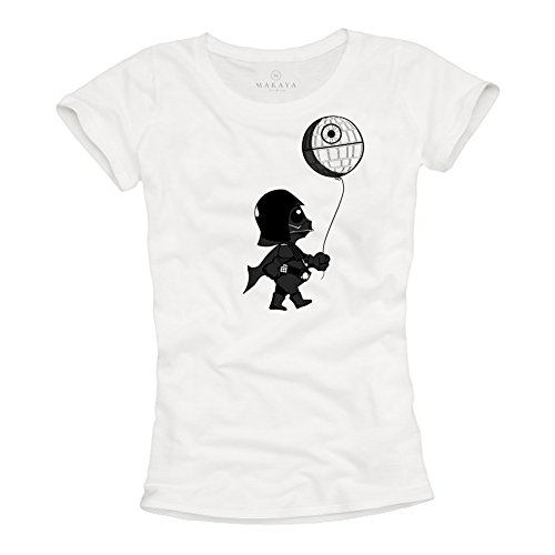 Baby Darth Vader T Shirt - Maglietta Stampate Divertenti Death Star Banksy Wars Donna M